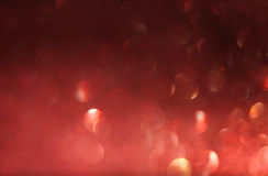 Red defocused lights background. abstract bokeh lights . red glitter background. Stock Photography