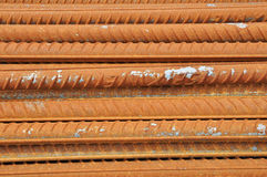 Red Deformed Steel Bar. At present, we are finding professional company for Deformed Steel Bar for our hotel with 40 floors Stock Photos