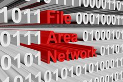 Red del área del fichero Imágenes de archivo libres de regalías