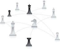 Red del ajedrez Fotografía de archivo