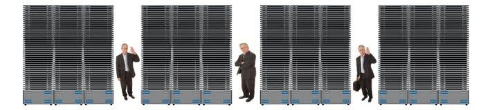 Red del asunto de servidores Fotografía de archivo libre de regalías