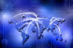 Red del asunto global stock de ilustración