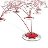 Red del asunto o concepto de la conexión ilustración del vector