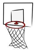 Red del baloncesto Imágenes de archivo libres de regalías