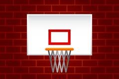 Red del baloncesto Foto de archivo