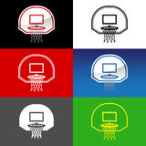 Red del baloncesto Imagenes de archivo