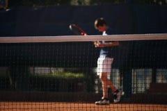 Red del campo de tenis Imágenes de archivo libres de regalías