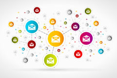 Red del correo stock de ilustración