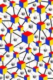 Red del cubo ilustración del vector