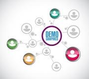 red del diagrama de la gente del demographics libre illustration
