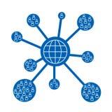 Red del mundo Imagen de archivo libre de regalías
