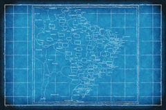 Red del proyecto original del Brasil stock de ilustración