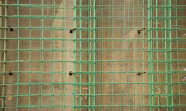 Red del refuerzo concreto Foto de archivo