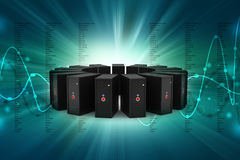 Red del servidor Imagen de archivo