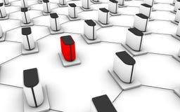 Red del servidor Imagenes de archivo