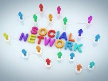 Red del Social de la gente ilustración del vector