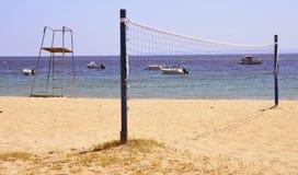 Red del voleo de la playa Imagen de archivo libre de regalías