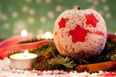 Red delicious Christmas apples Stock Photography