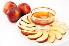 Red delicious and honey Stock Photography