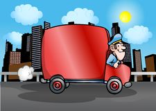 Red delivery truck Stock Image