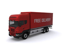Red Delivery Truck Royalty Free Stock Photos