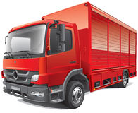 Red delivery truck Royalty Free Stock Photography