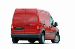Red delivery van Royalty Free Stock Photos