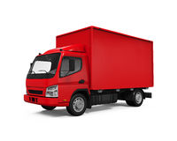 Red Delivery Van Stock Image
