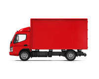 Red Delivery Van Stock Photos