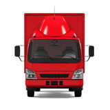Red Delivery Van Royalty Free Stock Photo
