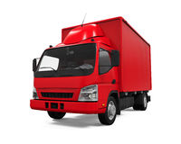 Red Delivery Van Royalty Free Stock Photography