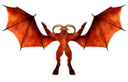 Red Demon. Illustration of an angry red demon isolated on a white background Stock Photography