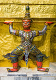 Red demon guardian supporting Wat Phra Kaew, Bangkok, Thailand Royalty Free Stock Photography