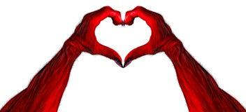 Red Demon Heart Shape Hands