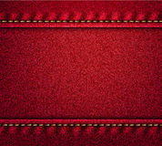 Red denim texture banner Stock Images