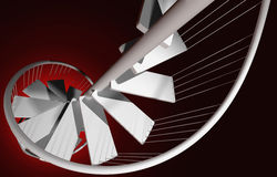 Red depths of despair. Spiral stairway going downward to red depths Royalty Free Stock Image