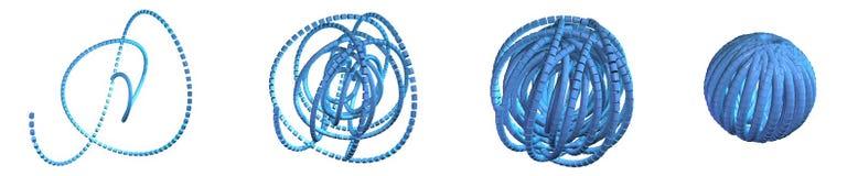 Red desenredada ilustración del vector