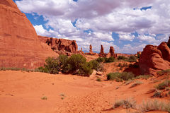 Red Desert. Arches National Park, Utah, USA Royalty Free Stock Images