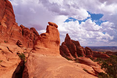 Red Desert. Arches National Park, Utah, USA Royalty Free Stock Image