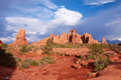 Red Desert. Arches National Park, Utah, USA Stock Images