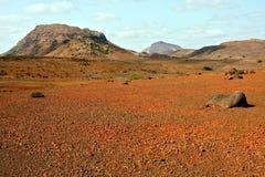 Red desert in Cape Verde Stock Images