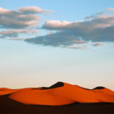 Red desert dunes. Sand dunes in morning Sahara desert Stock Photo