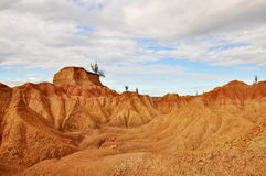 Red desert. Part of desert el Tatacoa in Colombia Stock Images