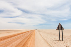Red desert road Royalty Free Stock Photography