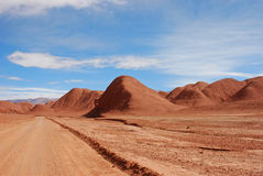 Red Desert Road and Hills Royalty Free Stock Photography