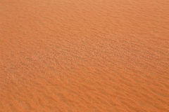 Red desert sand in Dubai at sunset Stock Photos
