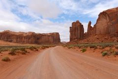 Red Desert Valley Road Royalty Free Stock Images