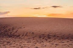 The Red Desert in Vietnam at dawn. Looks like cold desert on Mar Stock Images