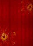 Red Design Background. A Red colored background with elegant designs Royalty Free Stock Images