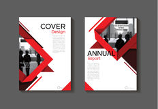 Red design book cover  modern cover abstract Brochure cover    Royalty Free Stock Photo